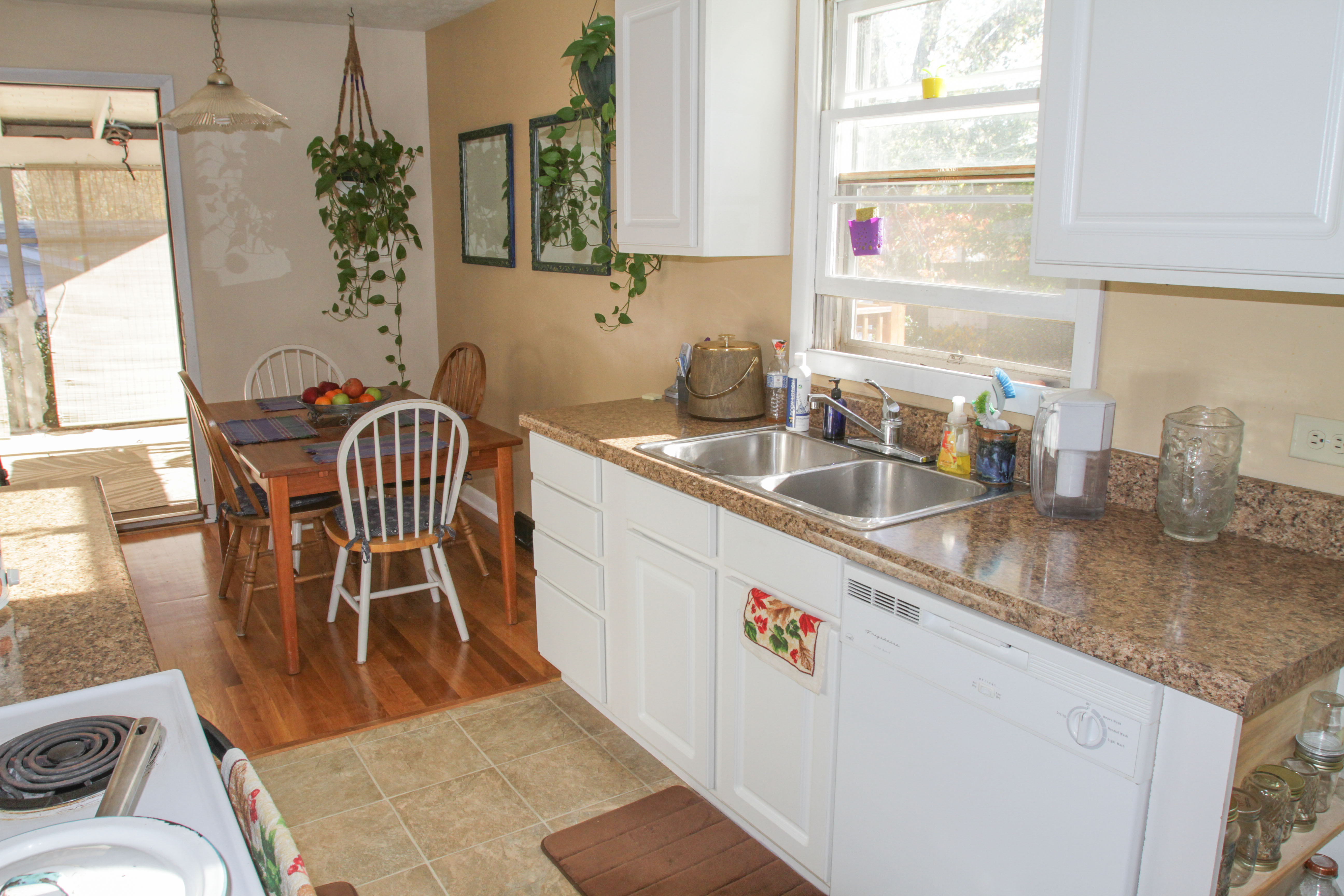 All rooms have shared access to the kitchen, dining room and living room.